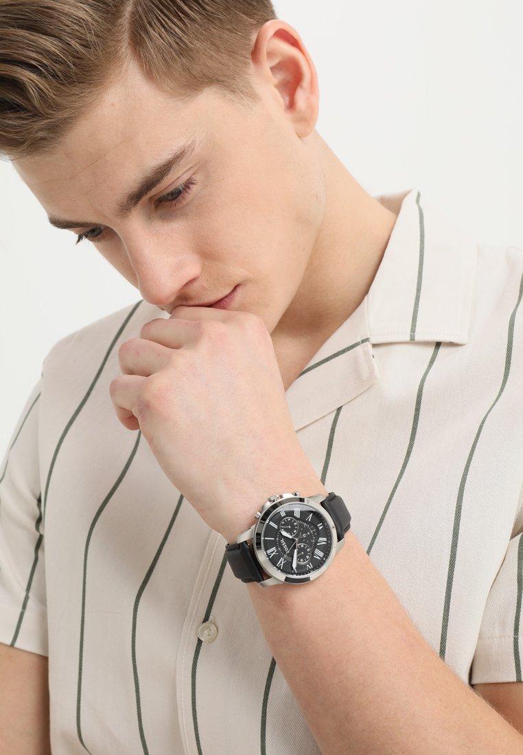Fossil - GRANT - Watch - schwarz/silver-coloured