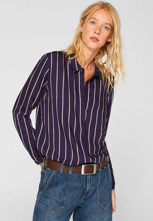 MIT VERDECKTER KNOPFLEISTE - Button-down blouse - navy