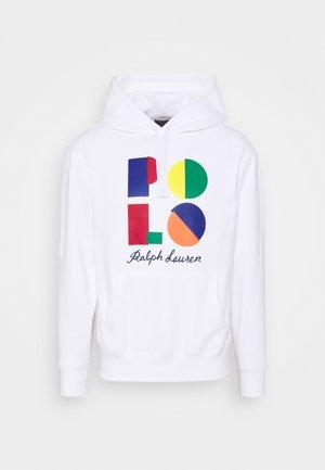 LOGO FLEECE HOODIE - Sweater - white