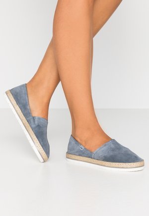 LEATHER - Espadrilles - dark blue