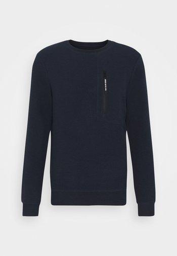 CREWNECK WITH ZIP POCKET - Sweatshirt - sky captain blue