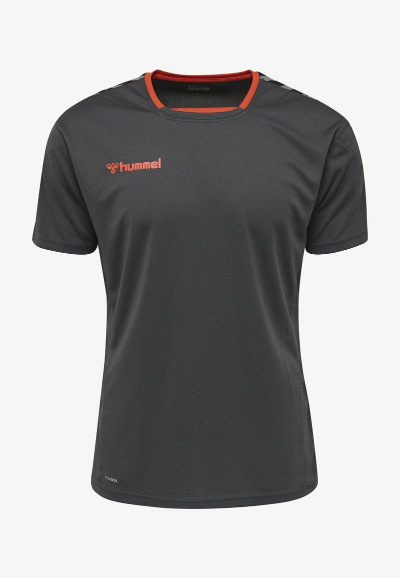 Hummel - T-shirt z nadrukiem - asphalt