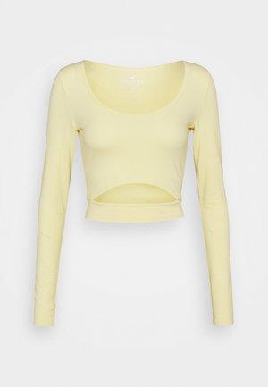 CUT OUT - Långärmad tröja - yellow