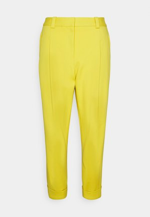 PLEAT FRONT TAPERED CUFFED TAILORED TROUSER - Trousers - marigold