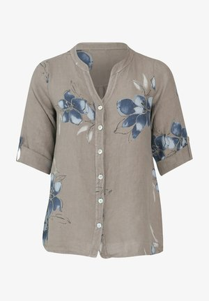 Button-down blouse - taupe
