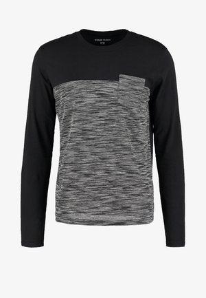 Langarmshirt - mottled grey/black