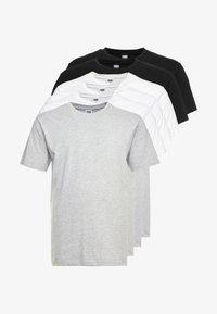 6 PACK - Basic T-shirt - white/white/white/black/black/grey