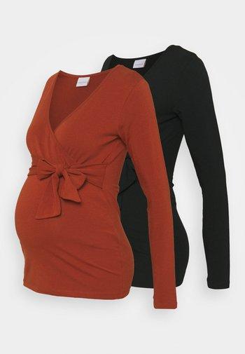 NURSING MLCHANTELLE JERSEY 2PACK  - Bluzka z długim rękawem - black