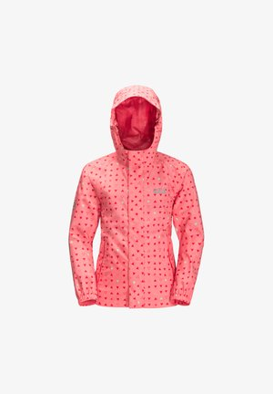 Soft shell jacket - apricot coral all over