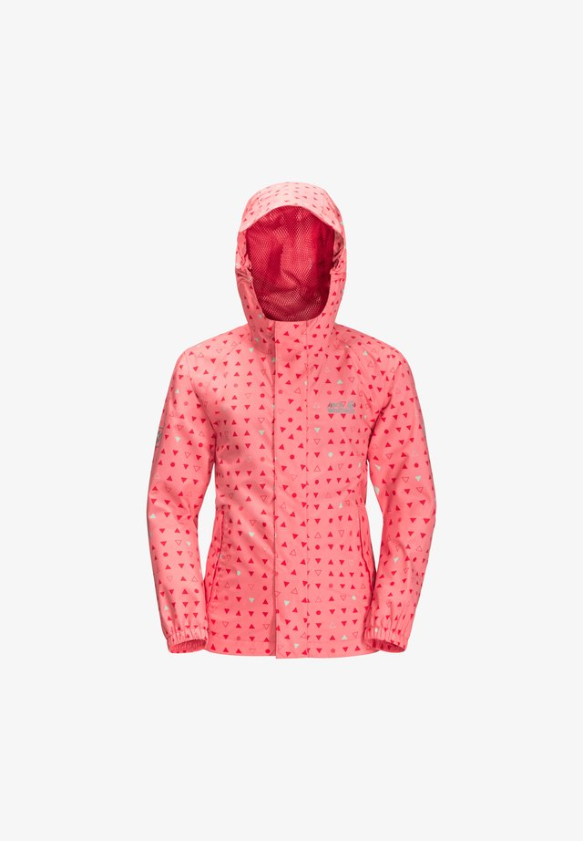 Softshelljacke - apricot coral all over