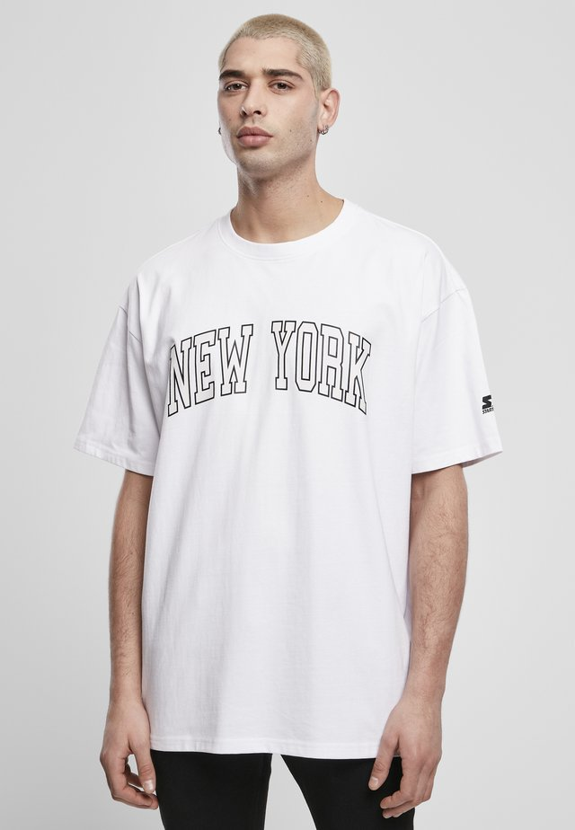 NEW YORK TEE - Printtipaita - white