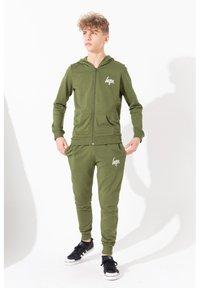 Hype - MINI SCRIPT - Zip-up hoodie - khaki - 1