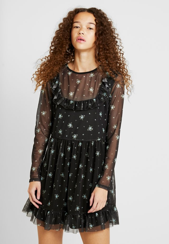 PRINTED FRILL DRESS - Vestido informal - multi