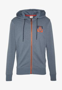 Jack & Jones - JCOSTRONG ZIP HOOD - Mikina na zip - china blue/melange - 4