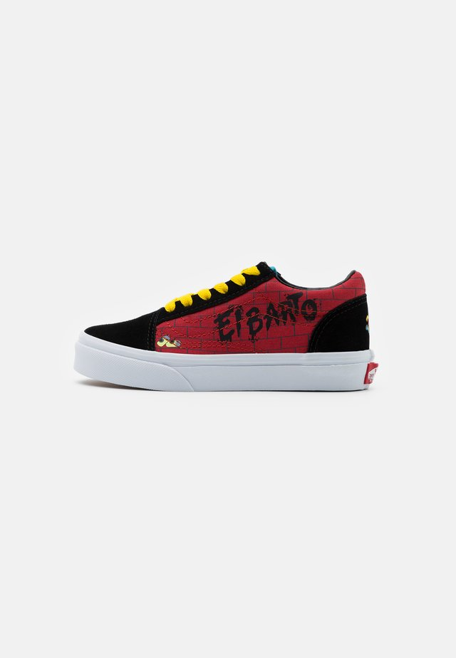 THE SIMPSONS OLD SKOOL - Sneakers basse - dark red/multicolor