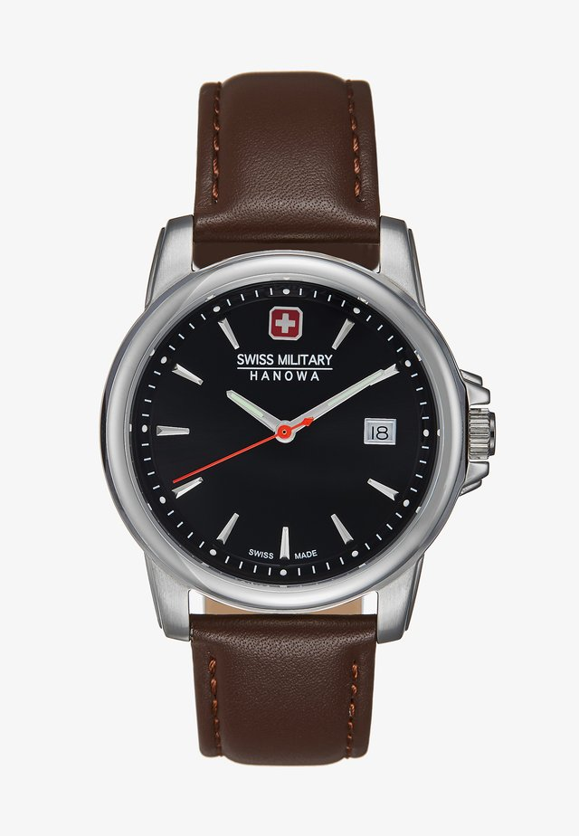 SWISS RECRUIT II - Hodinky - brown/silver-coloured/black
