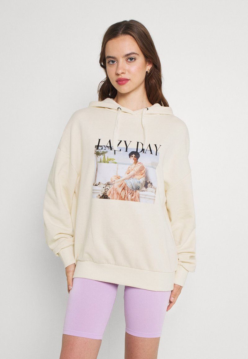 Even&Odd - LONG OVERSIZED HOODIE - Jersey con capucha - off-white