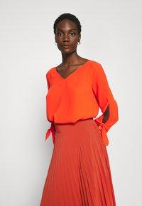 Anna Field - Plisse A-line mini skirt - Falda acampanada - orange - 3