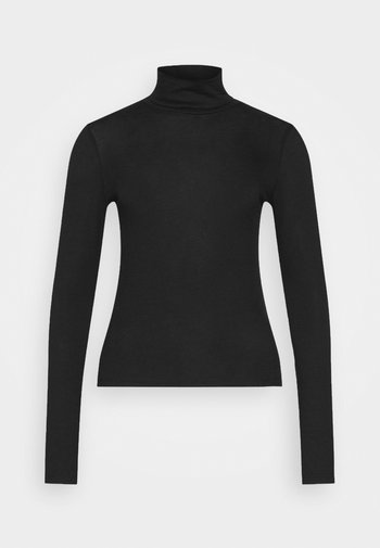 GIANNA POLO - Long sleeved top - black