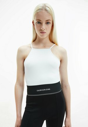 MILANO SQUARE NECK STRAPPY - Top - bright white