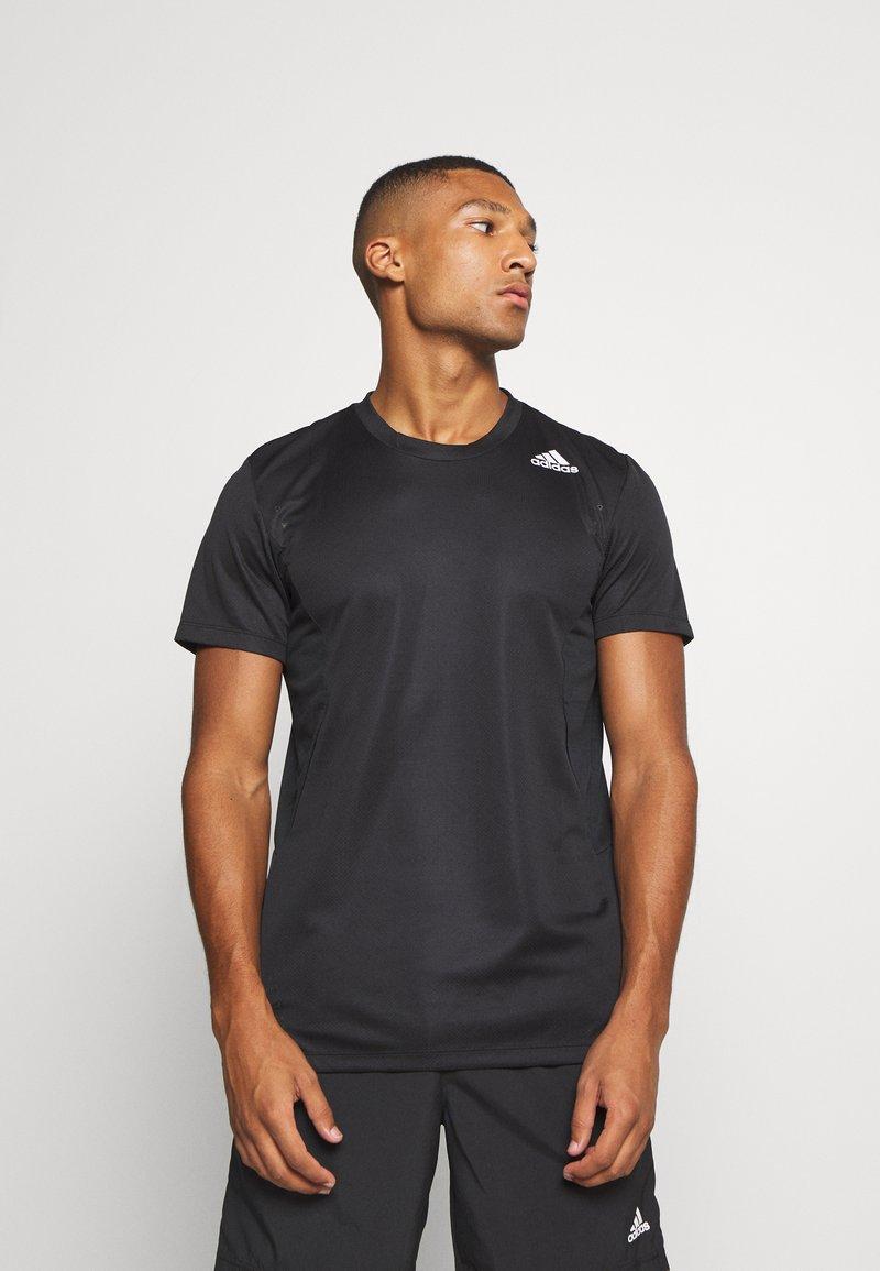 adidas Performance - HEAT.RDY TRAINING SLIM SHORT SLEEVE TEE - T-shirt print - black