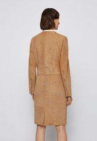 BOSS - Leather jacket - beige - 2