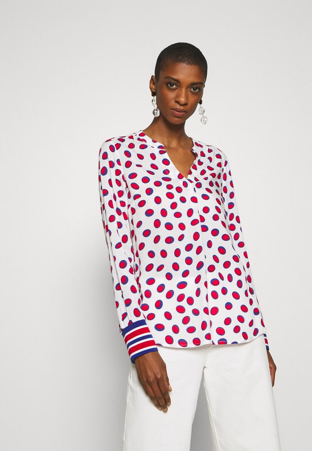 Blouse - white/red
