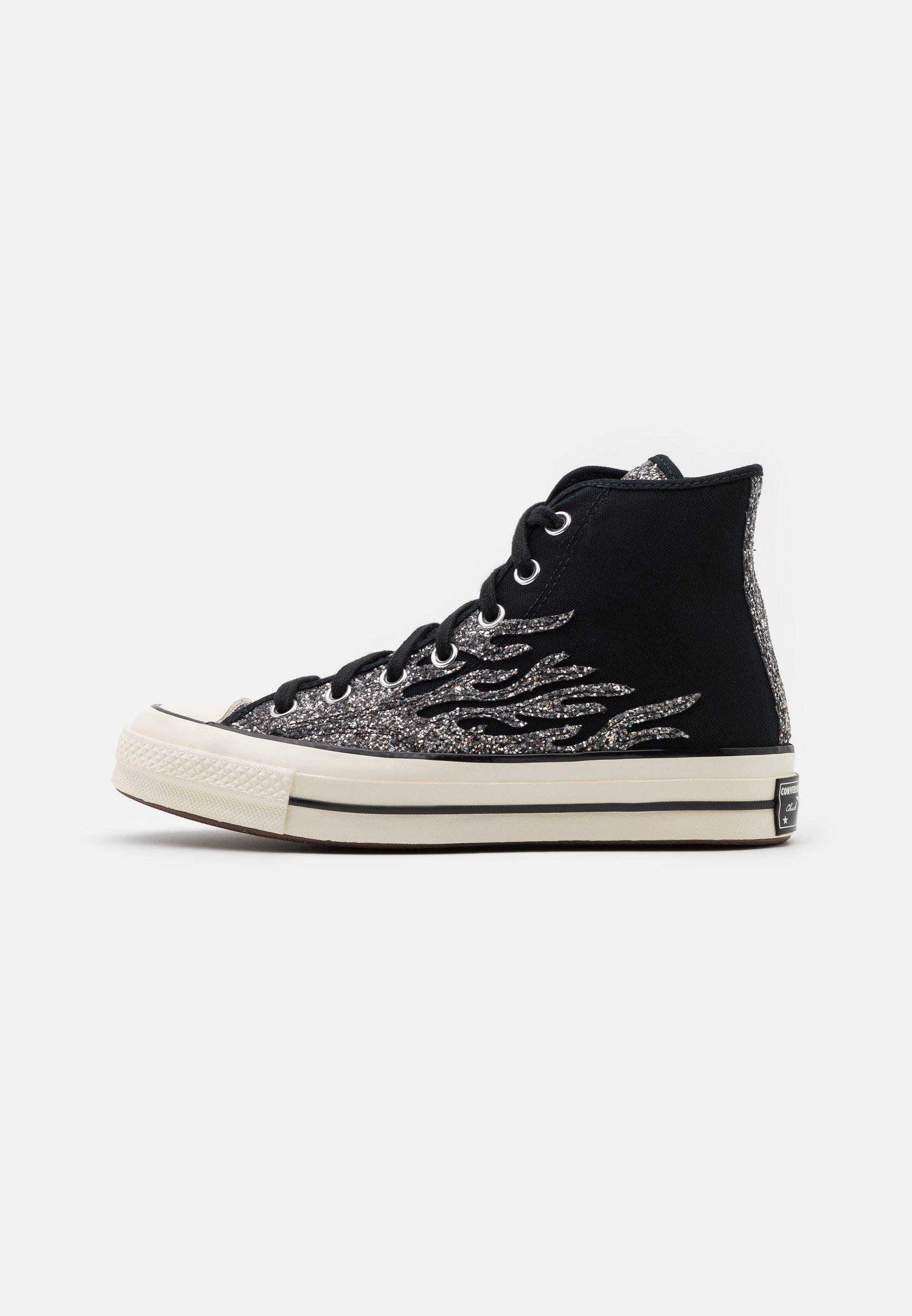 converse glitter nere