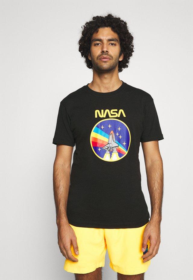 NASA ROCKET TEE  - T-shirt con stampa - black