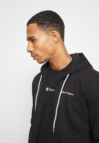 Champion - LEGACY HOODED FULL ZIP - veste en sweat zippée - black - 3