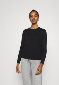 Tommy Jeans - SOFT TOUCH CREW SWEATER - Svetr - black - 0