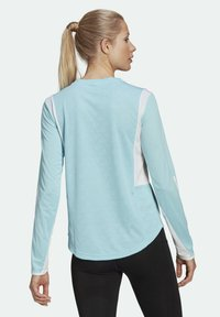 adidas Performance - OWN THE RUN 3-STRIPES RUNNING LONG-SLEEVE TOP - Long sleeved top - blue - 2