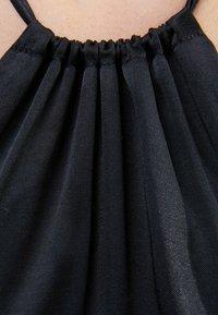 Bershka - SHORT SATIN CUT OUT HALTER DRESS - Cocktail dress / Party dress - black - 5