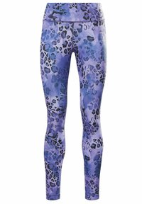 Reebok - LUX BOLD MODERN ONE SERIES SPEEDWICK REECYCLED WORKOUT LEGGINGS - Tights - blue