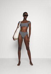 Seafolly - HIGH WAIST PANT - Bikini bottoms - black/white - 1