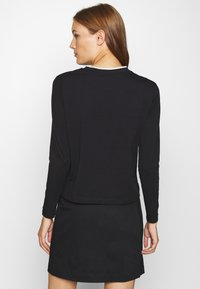 Calvin Klein Jeans - EMBROIDERY TIPPING - Long sleeved top - black - 2