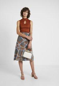 Soyaconcept - BIRNA - A-line skirt - faded blue combi - 1