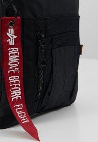 Alpha Industries - CREW MESSENGER BAG - Across body bag - black - 7