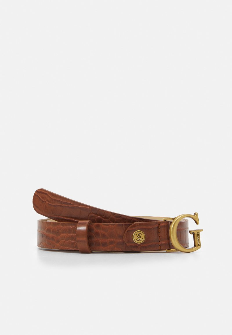 Guess - CORILY ADJUSTABLE PANT BELT - Pásek - cognac