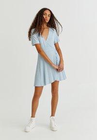 PULL&BEAR - Day dress - light blue - 4