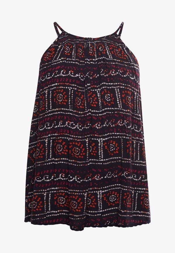 Superdry Bluzka - black tie dye/czarny QORB