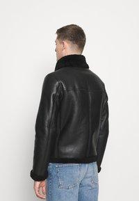 Tommy Hilfiger - BIKER JACKET - Leather jacket - black - 2