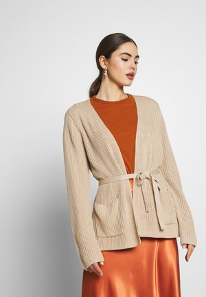 SIDE SLIT - Cardigan - beige