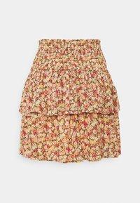 Object Petite - OBJMILA SMOCK SKIRT - Mini skirt - sandshell - 1