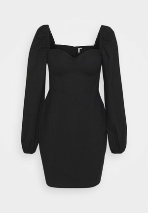 BODY HUGGING CORSET DRESS - Sukienka koktajlowa - black