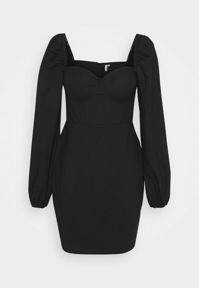 BODY HUGGING CORSET DRESS - Cocktailkjole - black
