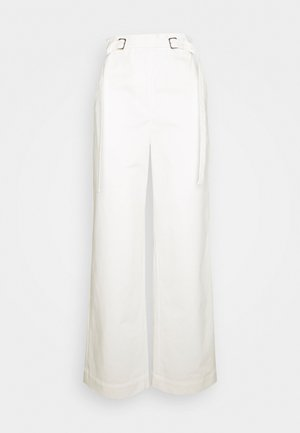 BELTED PANT - Broek - off-white