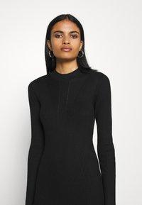Vila - VIKNITTA DRESS - Strikket kjole - black - 3