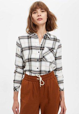 Button-down blouse - ecru