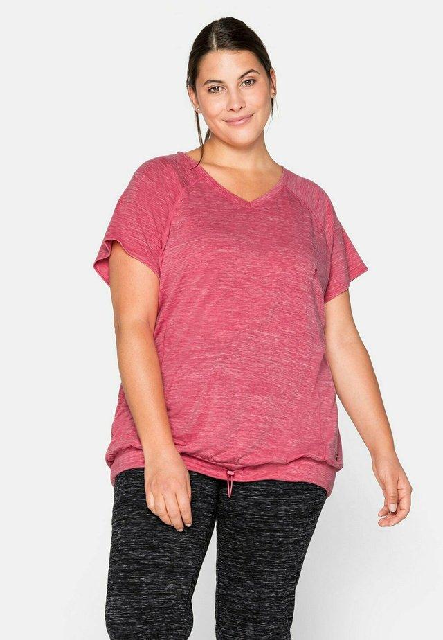 T-shirt basic - mottled pink